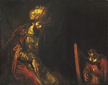 David and King Saul, Rembrandt