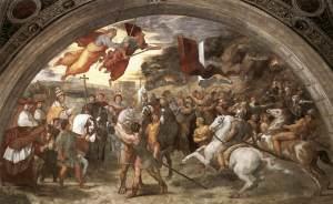 Raphael's Meeting Between St. Leo and Attila the Hun, 1514, Public Domain Artwork