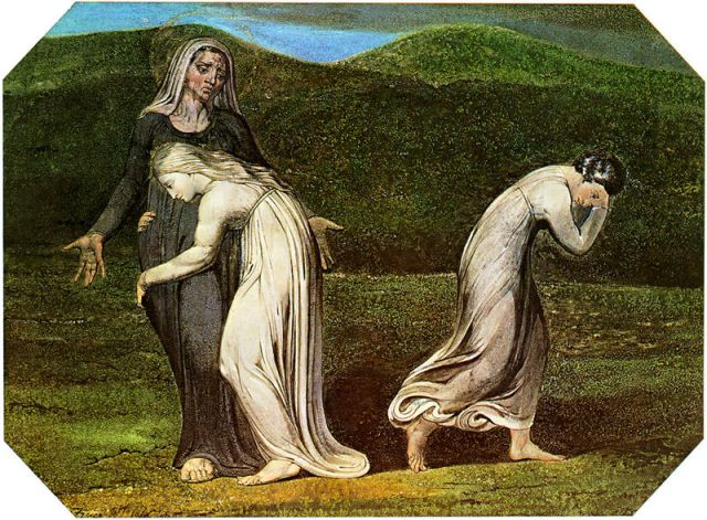 William Blake, Naomi Entreating Ruth and Orpah