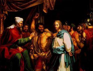 Jesus en casa de Anas by Jose de Madrazo Agudo