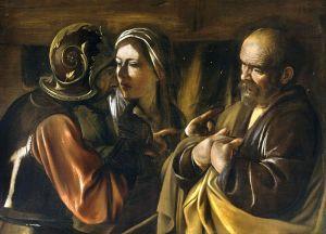 Michelangelo Merisis da Carvaggio, The Denial of Saint Peter