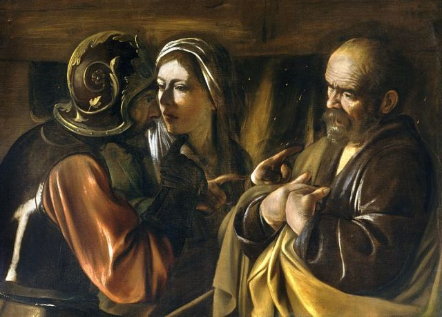 Michelangelo Merisis da Carvaggio, The Denial of Saint Peter