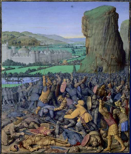 Battle of Gilboa by Jean Forquet (1420-1480)