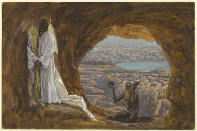 James Tissot, Jesus Tempted in the Wilderness