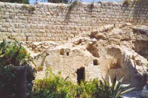 Garden Tomb considered by some to be the site of the burial and resurrection