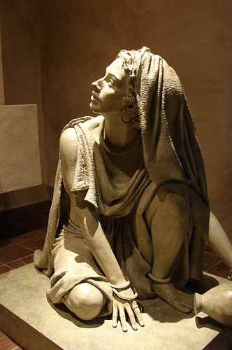 Statue of Mary Magdalene in Mission Santa Monica