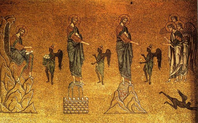 The Temptations of Christ, Mosaic in the Basilica of St. Mark, Venice