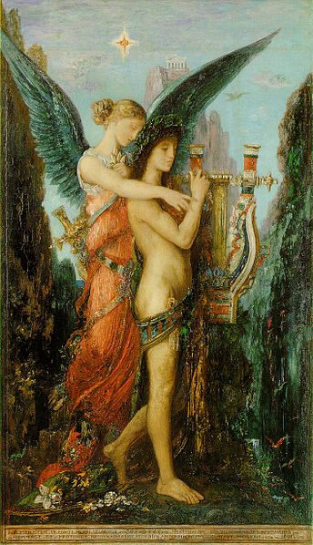 Gustav Moreau, Hesiod and the Muse (1891)