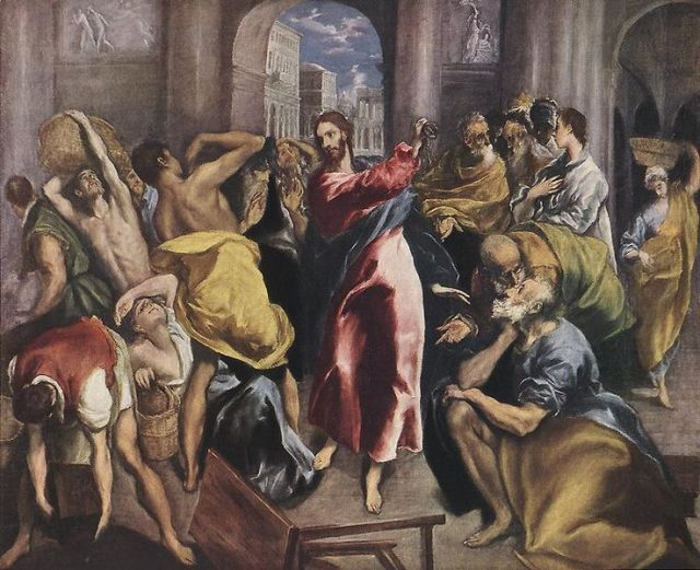Christ Driving the Traders from the Temple by El Greco (1600)