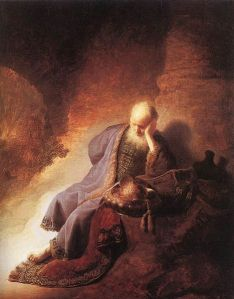 Jeremiah Lamenting the Destruction of Jerusalem by Rembrandt van Rijn 1630