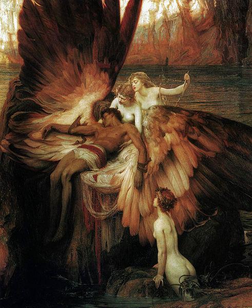 Herbert James Draper, Mourning for Icarus (1898)