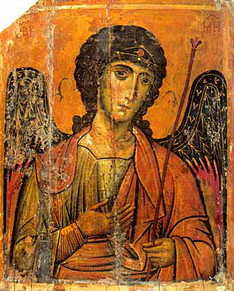Michael the Archangel. A 13th Century Byzantine icon from the Monastery of St. Catherine, Sinai
