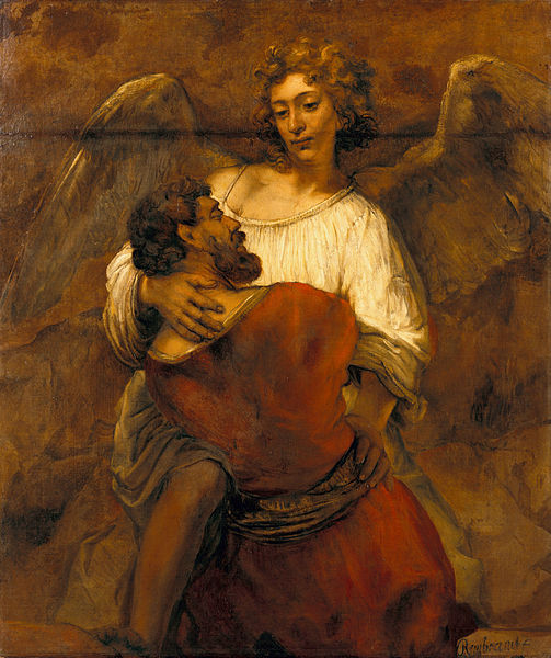Rembrandt Harmenszoon van Rijn, Jacob Wrestling with the Angel (1659)