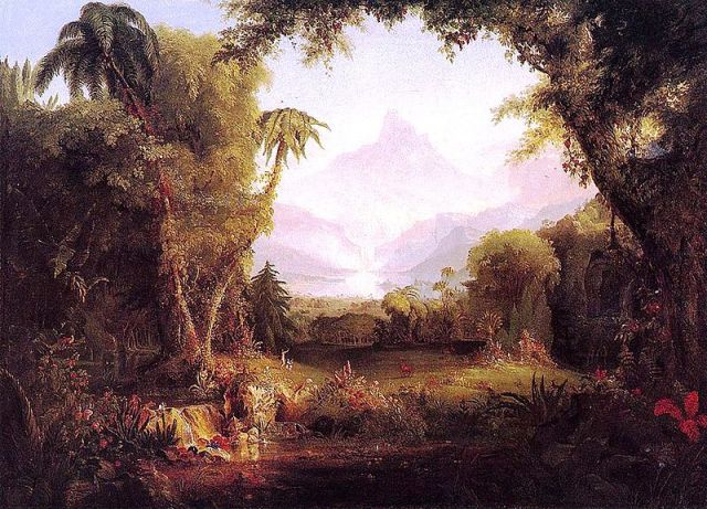 The Garden of Eden by Thomas Cole (1828)