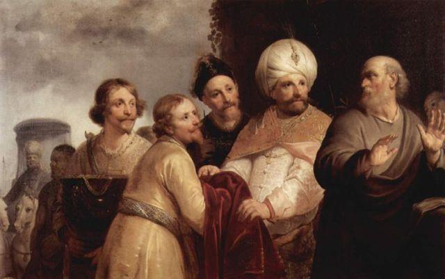 Elisha Refuses the Gift of Naaman, Pieter de Grebber (1652-53)