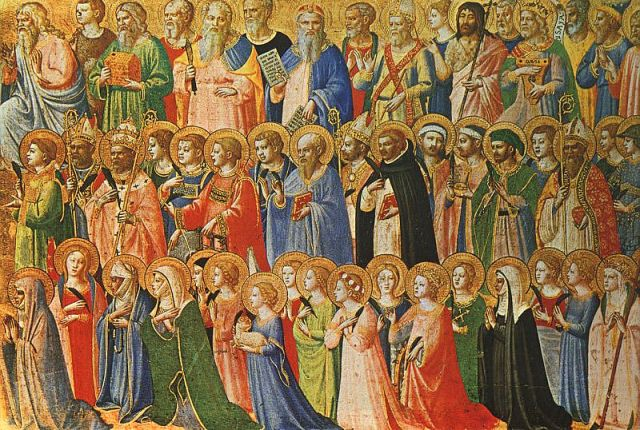 The Forerunners of Christ with Saints and Martyrs (around 1423) en: Fra Angelico
