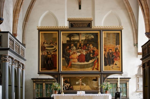 Lucas Cranach the Elder altarpiece in City Church of Wittenberg (1547)