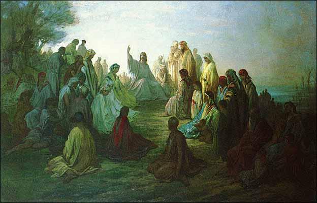 Gustave Dore, Jesus Prechant Sur La Montagne (1865)
