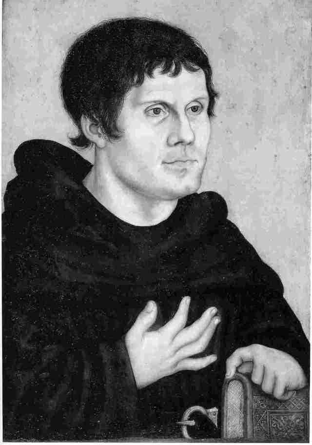 Martin Luther (1523) by Lucas Cranach