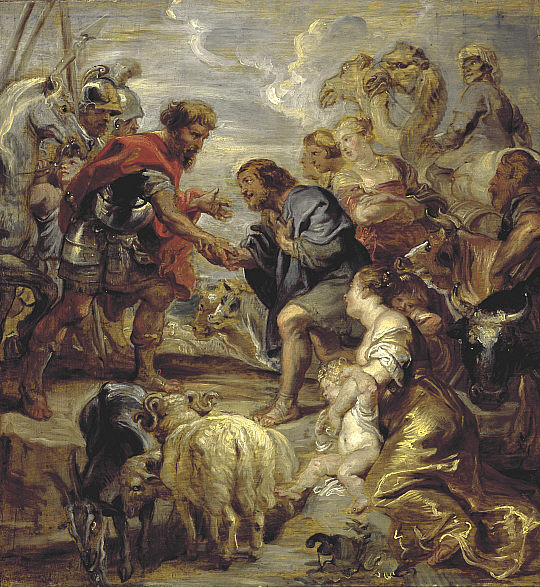 Pierre Paul Rubens, The Reconciliation of Jacob and esau, as in Genesis 33 (1624)