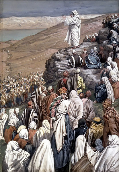 James Tissot The Sermon of the Beatitudes  (1886-1896)
