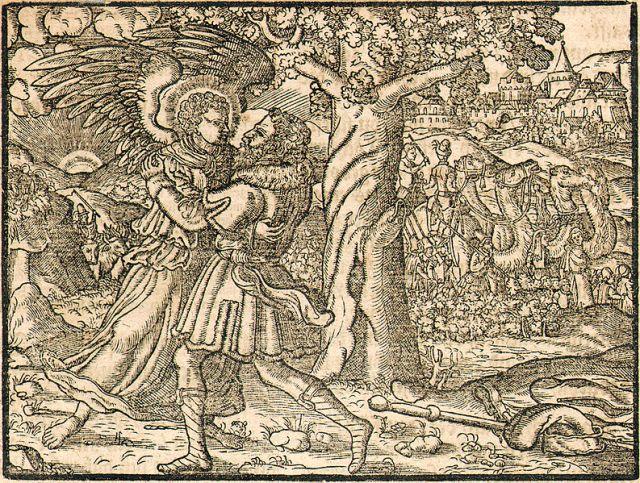 Woodcut from Gutenberg Bibel, 1558