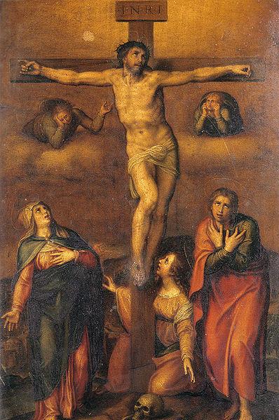 Miguel Angel Buonarroti, Copia desde la Crucifixion dibujada (1540)
