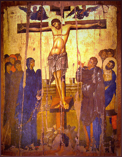 Icon of Crucifixion in the Byzantine and Christian Museum in Athens