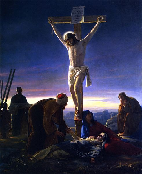 Reproduction of Carl Heinrich Bloch's, Christ on the Cross (1870)