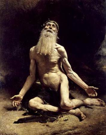 Job (oil on canvas) by Bonnat, Leon Joseph Florentin (1833-1922)