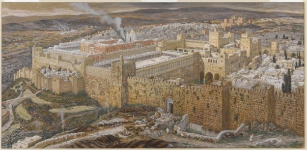 James Tissot, Reconstruction of Jerusalem and the Temple of Herod, painted between 1886 and 1894