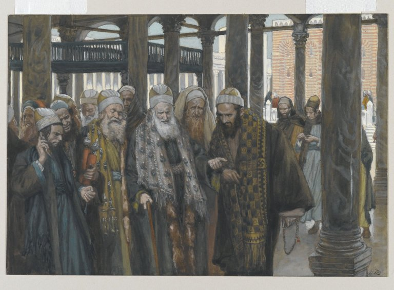 James Tissot, The Chief Priests Take Counsel Together (1886-1894)