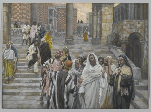 The Disciples Admire the Buildings of the Temple, James Tissot
