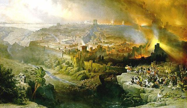 The Siege and Destruction of Jerusalem by Romans Under the Command of Titus, A.D. 70 by David Roberts 1850