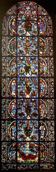 The Oldest know Jesse Tree Window from the Chartres Cathedral in France c. 1145