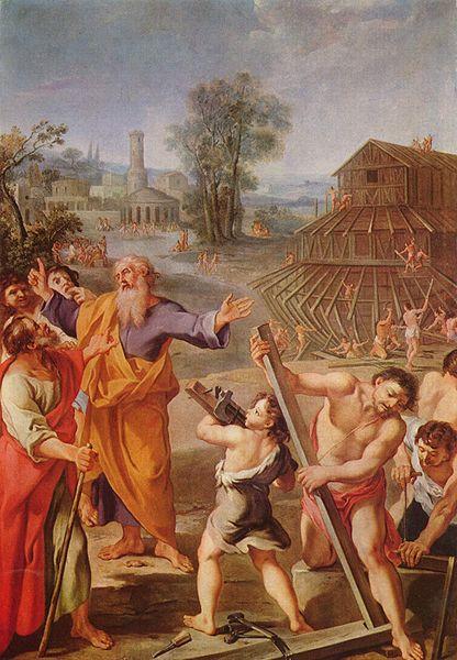 Franzosischer Meister, Der Bau der Arche Noah, 1675