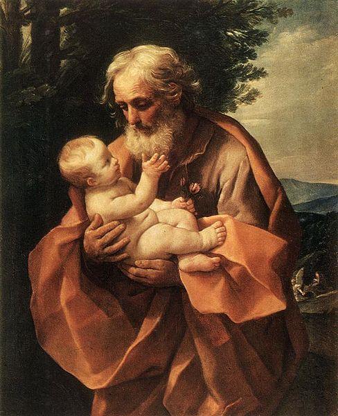 Guido Reni, Saint Joseph with the Infant Jesus, 1635