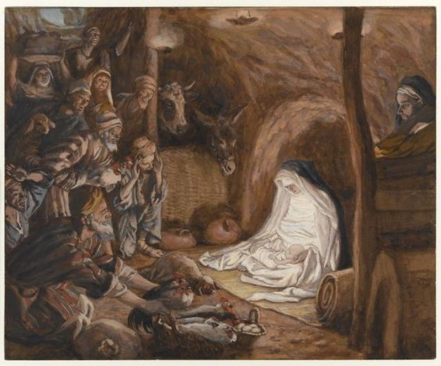 James Tissot, The Adoration of the Shepherds between 1886 and 1894