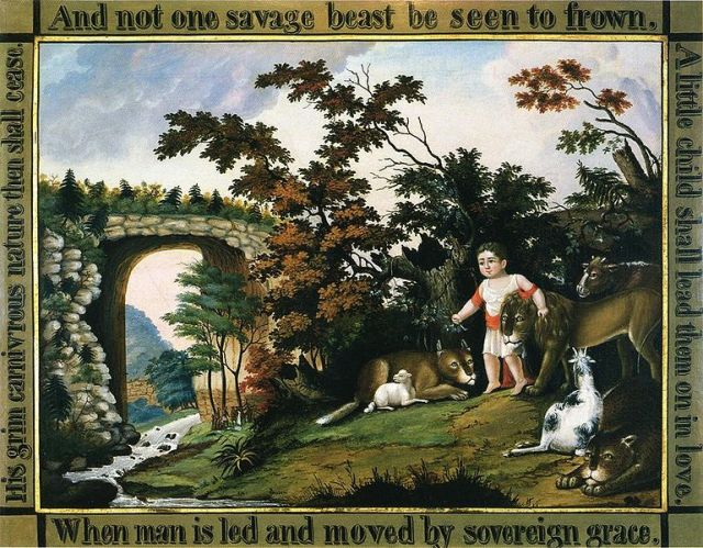 Edward Hicks, Peaceable Kingdom of the Branch (182601830)