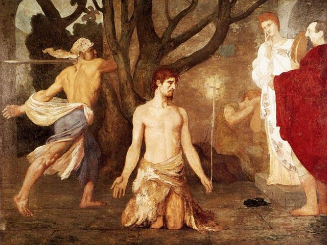 Pierre Puvis de Chavannes, The Beheading of St John the Baptist 1869