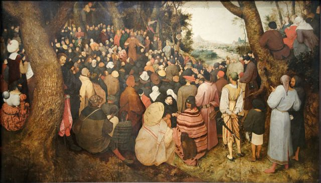 Pieter Brueghel the Elder, The Sermon of St John the Baptist (detail) 1566