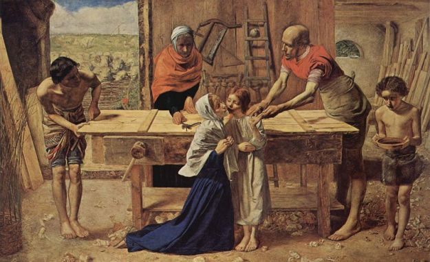 Sir John Everett Millais, Jesus in the House With His Elders, 1850