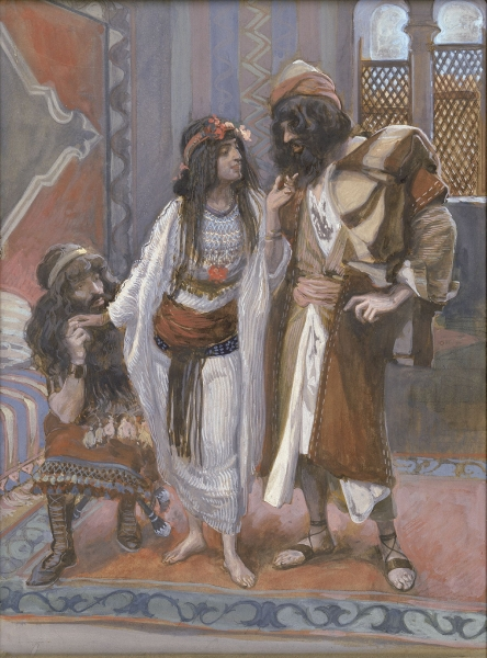 James Tissot, The Harlot of Jericho and the Two Spies