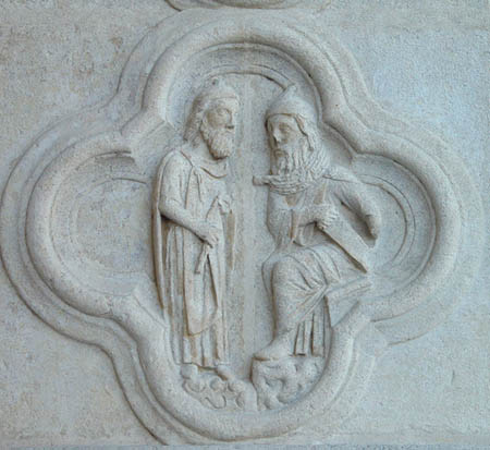 The Breaking of Jeremiah's Yoke by Hananiah, Cathedral of Notre Dame, Amiens, France