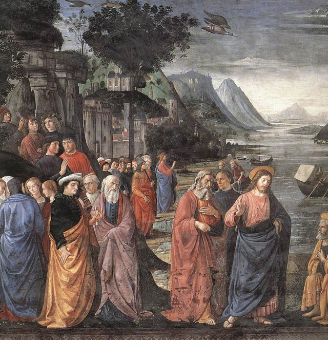 Ghirlandio Domenico, the Calling of the First Apostles (1481)