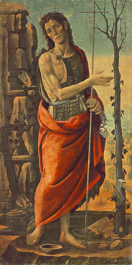 Jacopo del Sellaio, St John the Baptist about 1485