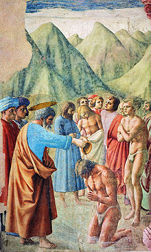 Masaccio, Baptism of the Neophytes, (1424-28)