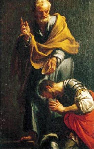 Francesco Trevisani, Peter Baptizing the Centurion Cornelius (1709)