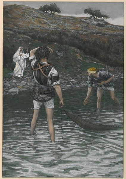 James Tissot, The Calling of Saint Peter and Saint Andrew (1886-1894)