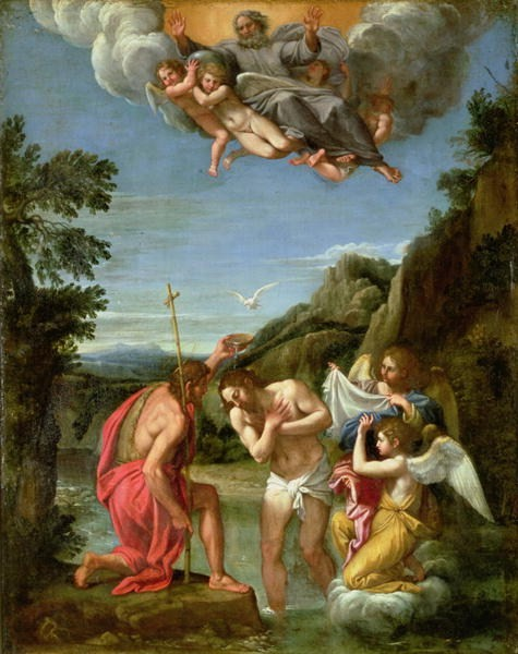 Francesco Albani, Baptism of Christ (1600s)